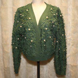 Mighty Fine Loop/Pearl Green Cardigan Sweater NWT